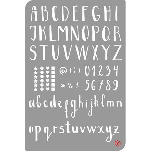 Pronty Bullet Journal Stencil  Alphabet/Numbers 470.851.000 12x18cm (03-18)