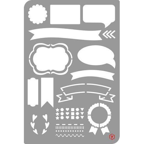 Pronty Bullet Journal Stencil  Banners 470.851.003 12x18cm (03-18)