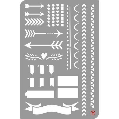 Pronty Bullet Journal Stencil  Edges 470.851.004 12x18cm (03-18)
