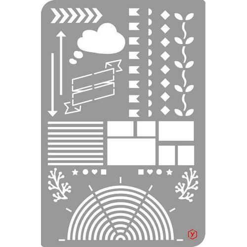 Pronty Bullet Journal Stencil  Edges 1 470.851.005 12x18cm (03-18)