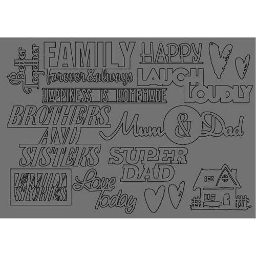 Pronty Grey Chipboard Fam.Stories A5 492.001.008 By Raffzz (03-18)