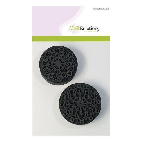 CraftEmotions Foam stamps mandala 2x 55mm - 50mm (03-18)
