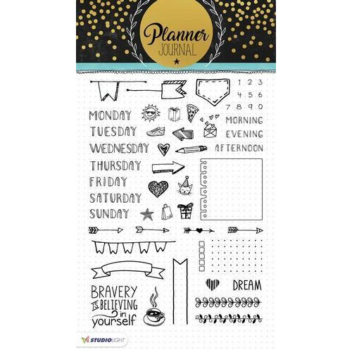 Studio Light Clearstempel A5 Planner Journal nr 01 STAMPPJ01 (04-18)