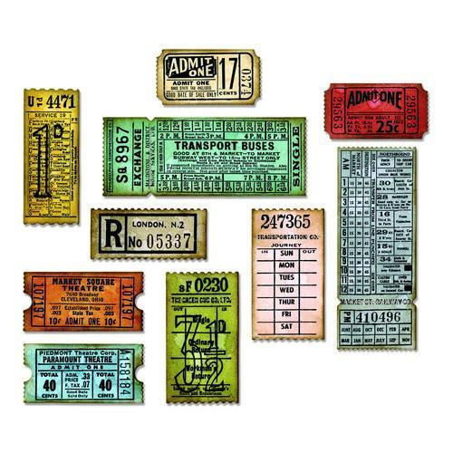 Sizzix Thinlits Die Set 6PK - Ticket Booth 662698 Tim Holtz (04 -18)