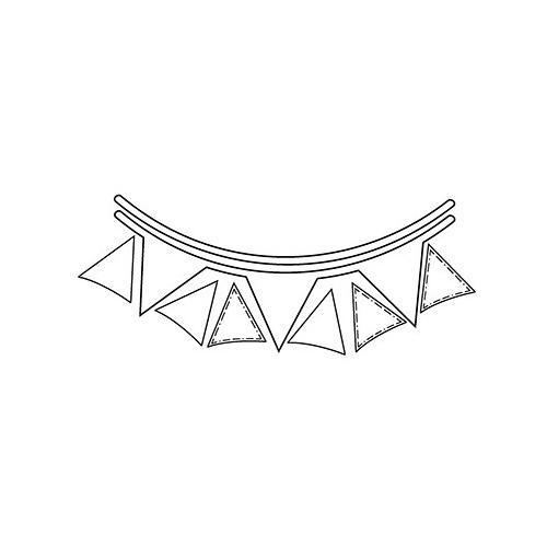 Metal Dies Triangle Banner