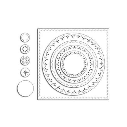 Creative Dies Stitched Square & Circles