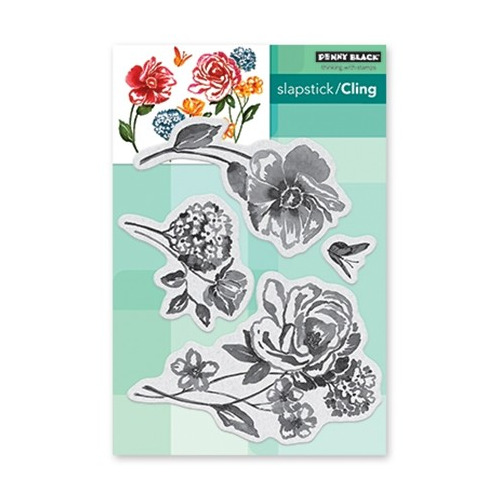 Slapstick/Cling Stamp Flower Pageant