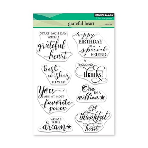 Clear Set Stamp Grateful Heart