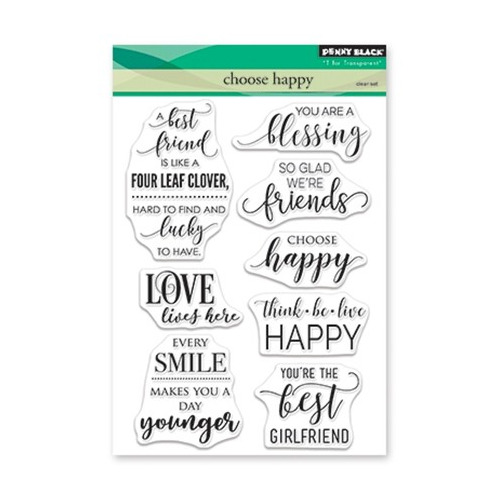 Clear Set Stamp Choose Happy