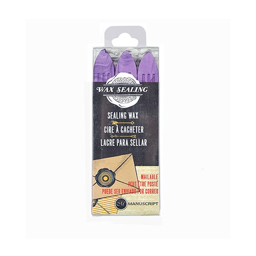 Sealing Gun Wax with Wick Lilac