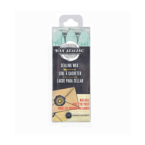 Sealing Gun Wax with Wick Aqua