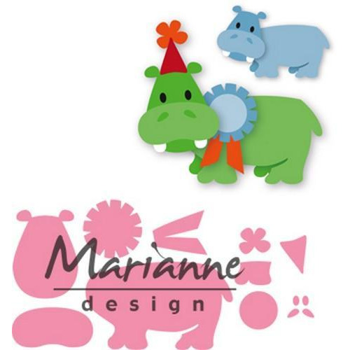 Marianne D Collectable Eline`s happy hippo COL1450 98x67 mm  (04-18)
