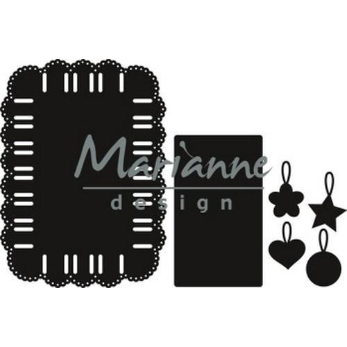Marianne D Craftable Ribbon rectangle CR1436 85x117 mm  (04-18)