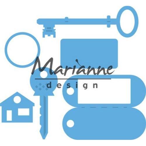 Marianne D Creatable Sleutelhanger LR0523 95x88 mm  (04-18)