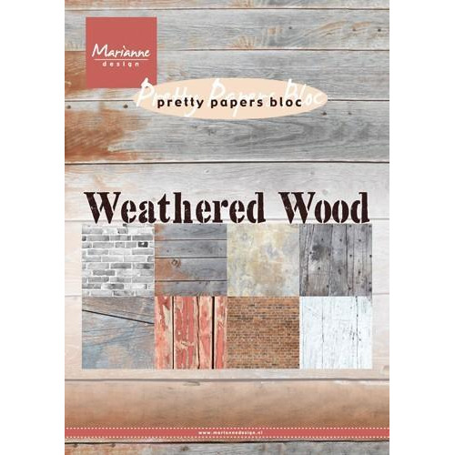 Marianne D Paper pad Weathered wood A5 PK9155 (04-18)