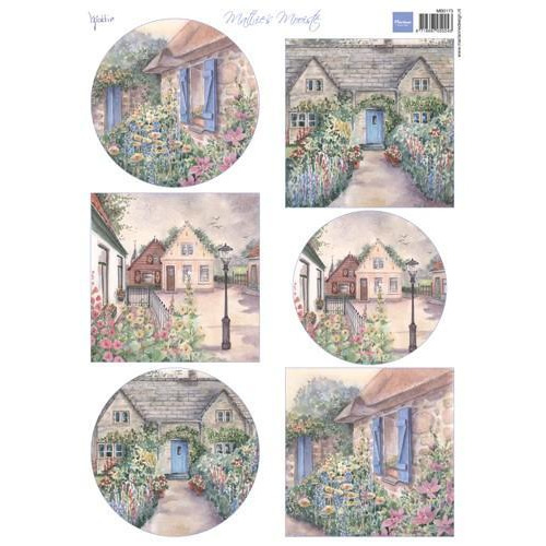 Marianne D 3D Knipvel Mattie`s mooiste: Cottages MB0173  (04-18)
