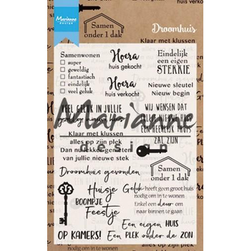 Marianne D Clear Stamp Droomhuis (NL) CS1004 105x148 mm (04-18)