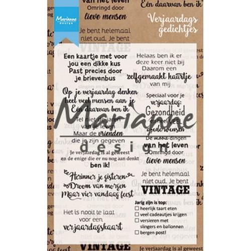 Marianne D Clear Stamp Verjaardagsgedichtjes (NL) CS1006 105x148 mm (04-18)