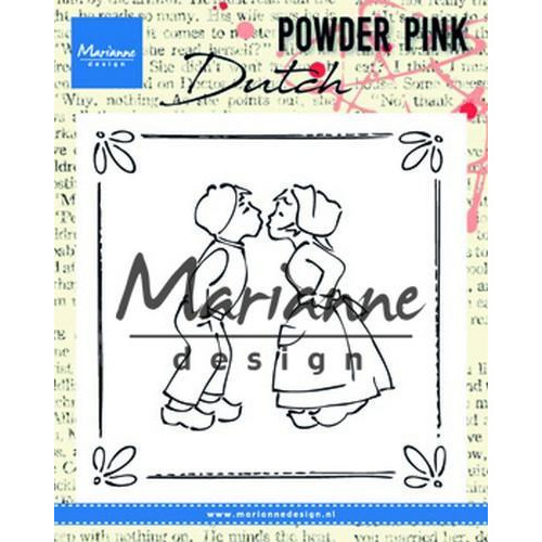 Marianne D Clear stamp P. Pink - Kussend koppel PP2803 81x82 mm (04-18)