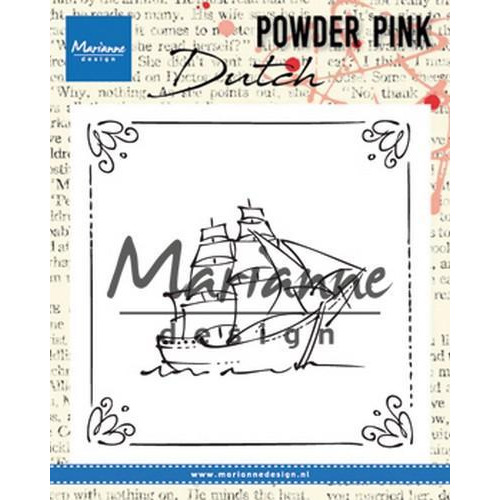 Marianne D Clear stamp P. Pink - Zeilboot PP2806 82x82 mm (04-18)
