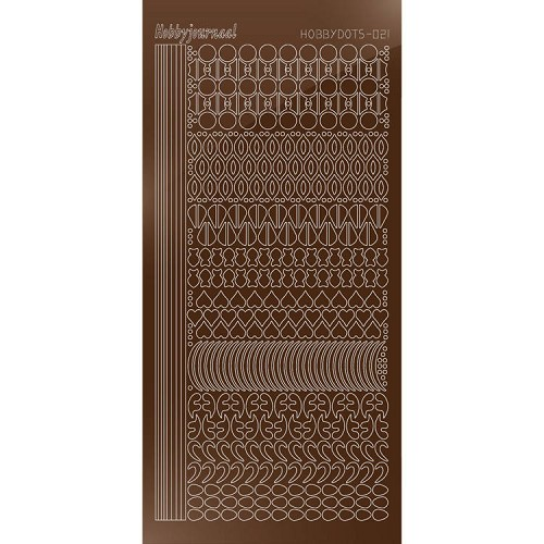 Hobbydots sticker - Mirror - Brown