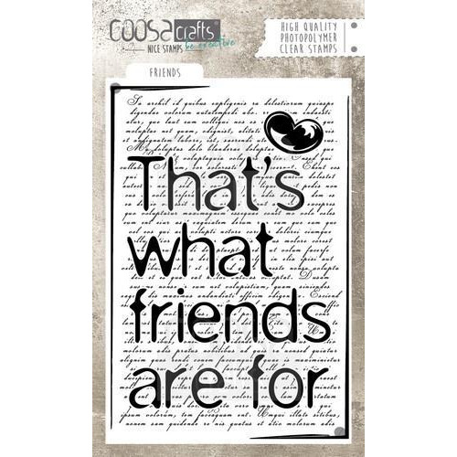 COOSA Crafts clearstamps A6 - Friends (Eng) COC-038