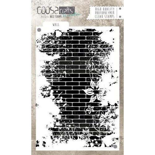 COOSA Crafts clearstamps A6 - Wall COC-040