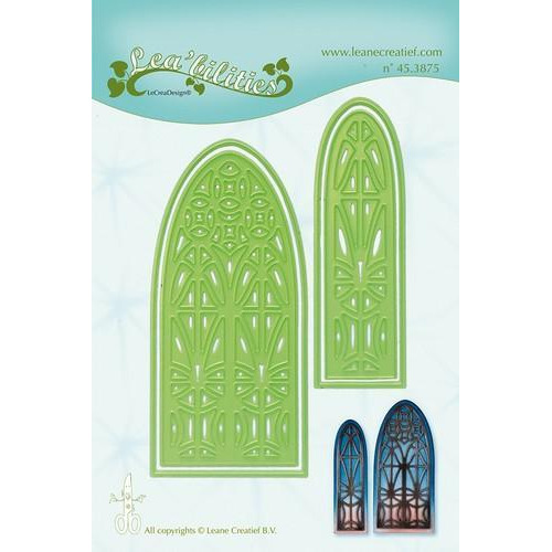 LeCrea - Lea'bilitie Church window snij en embossing mal 45.3875 (03-18)