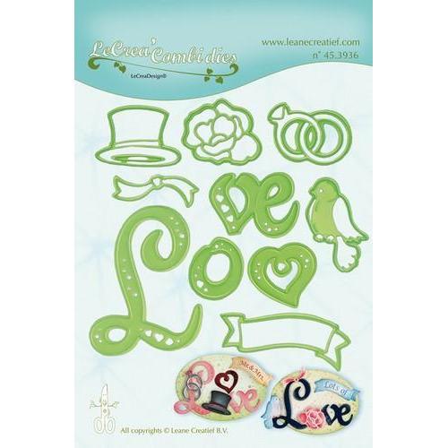 LeCrea - Lea'bilitie Love combi snij en embossing mal 45.3936 (03-18)