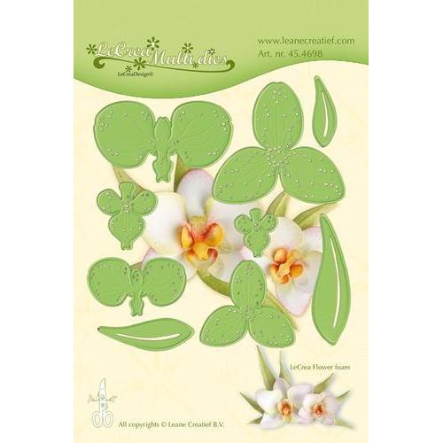 LeCrea - Lea'bilitie flower 012 Orchidee snij, emboss mal 45.4698 (03-18)