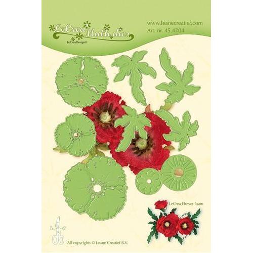 LeCrea - Lea'bilitie flower 013 Klaproos snij, embossing mal 45.4704 (03-18)