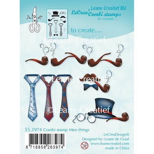 LeCrea - Combi clear stamp Men things 55.3974 (03-18)