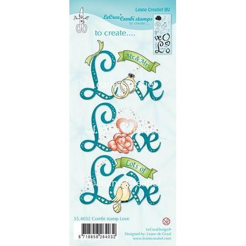 LeCrea - Combi clear stamp Love 55.4032 (03-18)