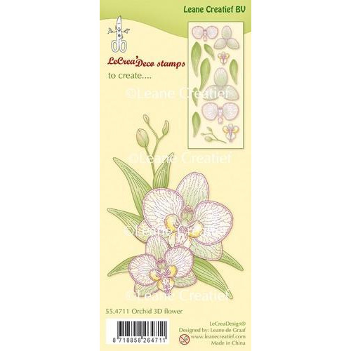 LeCrea - Clear stamp Orchidee 3D Flower 55.4711 (03-18)