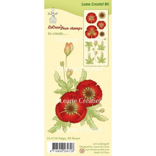 LeCrea - Clear stamp Klaproos 3D Flower 55.4728 (03-18)