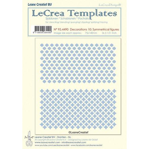LeCrea - Stencil decorations 10. Symmetrical designs 95.4490 75x140mm (03-18)