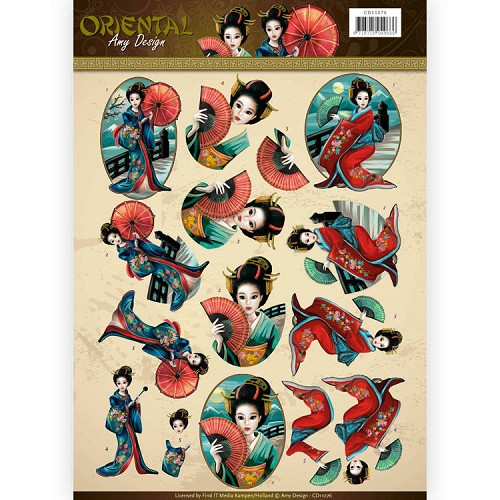 3D Knipvel - Amy Design Oriental - Geishas