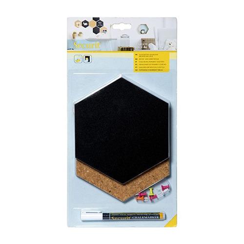 Chalkboard Hexagon Chalk & Cork boards