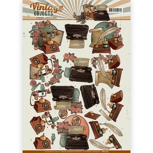3D Knipvel - Yvonne Creations - Vintage Objects - Vintage Communications