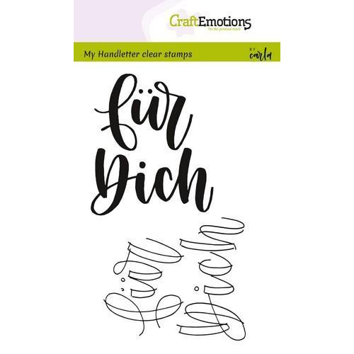 CraftEmotions clearstamps A6 - handletter - für Dich (DE) (04-18)