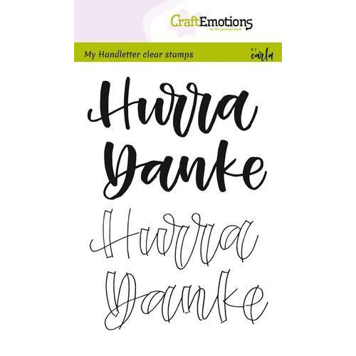 CraftEmotions clearstamps A6 - handletter - Hurra, Danke (DE) (04-18)