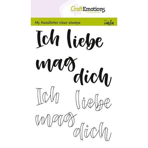 CraftEmotions clearstamps A6 - handletter - Ich liebe dich (DE) (04-18)
