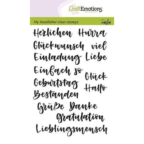 CraftEmotions clearstamps A6 - handletter - Wörter Verschieden (DE) (04-18)