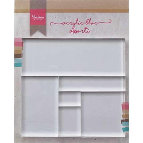 Marianne D Tools Acrylic stamp bloc set 6 stuks LR0013 (05-18)