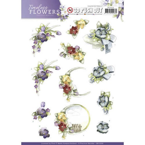 Push Out - Precious Marieke - Timeless Flowers - Violets