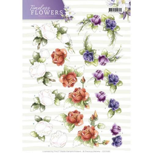 3D Knipvel - Precious Marieke - Timeless Flowers - Roses