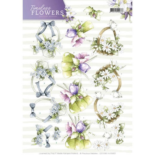 3D Knipvel - Precious Marieke - Timeless Flowers - Bouquets