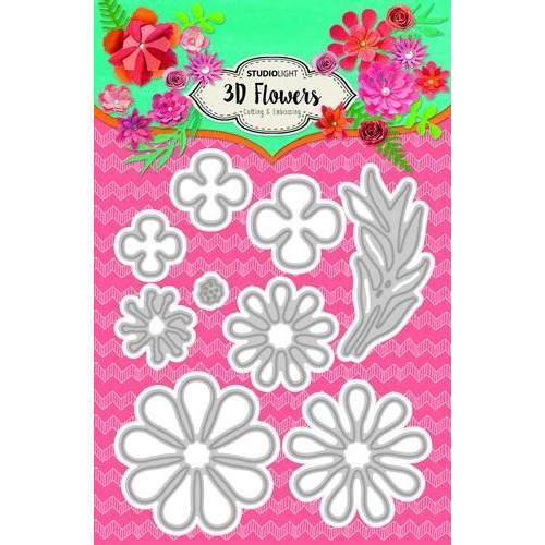 Embossing Die 3D flowers 105 x 160 mm (A6) Nr.92 STENCILSL92 (04-18)