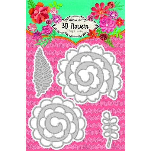 Embossing Die 3D flowers 105 x 160 mm (A6) Nr.93 STENCILSL93 (04-18)