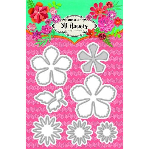 Embossing Die 3D flowers 105 x 160 mm (A6) Nr.94 STENCILSL94 (04-18)